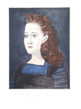 Femme a la Collerette Bleue