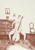 The Cellist (Sepia)