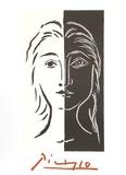 Portrait en Deux Parties Noire et Blanche