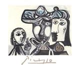 Couple et Enfant au Rameau D'Olivier