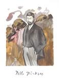 Portrait d'un Homme Debout avec Barbicne
