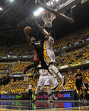 Indianapolis  IN - May 24: Miami Heat and Indiana Pacers - Dwyane Wade and Roy Hibbert