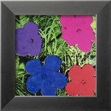 Flowers (Purple, Blue, Pink, Red) Reproduction encadrée par Andy Warhol