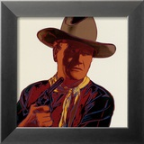 Cowboys and Indians: John Wayne 201/250, 1986 Reproduction encadrée par Andy Warhol