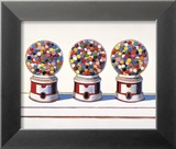 Trois machines, 1963 Reproduction encadrée par Wayne Thiebaud