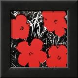 Flowers, c.1964 (Red) Reproduction encadrée par Andy Warhol