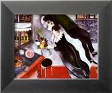 Anniversaire Reproduction encadrée par Marc Chagall
