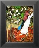 Les trois bougies Reproduction encadrée par Marc Chagall