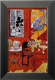 Grand intérieur rouge, 1948 Reproduction encadrée par Henri Matisse