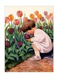 Tulip Time Reproduction d'art par Jessie Willcox-Smith