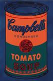 Colored Campbell's Soup Can, c.1965 Blue & Orange Reproduction d'art par Andy Warhol