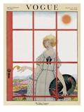 Vogue Cover - March 1920 Giclée premium par Harriet Meserole