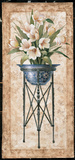 White Tulips In An Iron Urn