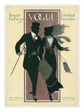 Vogue Cover - February 1912 Giclée premium