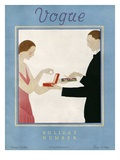 Vogue Cover - December 1923 Giclée premium par André E. Marty