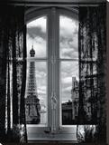 Fenêtre Sur Paris Tableau sur toile par Mauricio Hellerdani