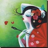 La Risée Fleurie Tableau sur toile par Sybile