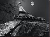 Tour Eiffel, Pleine Lune Tableau sur toile par Antoine Carrara