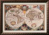 Antique Map  Geographica  Ca 1630