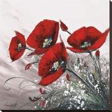 Bouquet De Coquelicots II Tableau sur toile par Olivier Tramoni