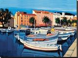 Barques De Pêcheurs dans Le Port D'Ajaccio Tableau sur toile par Jean Claude Quilici