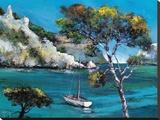 Promenade Dans Les Calanques Tableau sur toile par Roger Keiflin