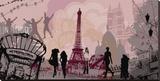 Paris With Love Tableau sur toile par Farkas