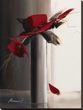 Bouquet Rouge II Tableau sur toile par Olivier Tramoni