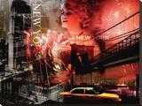 Feux d'artifice à New York Tableau sur toile par Braun