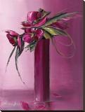 Bouquet Violet II Tableau sur toile par Olivier Tramoni
