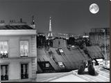 La Tour Eiffel De La Rue St Eleuthère Tableau sur toile par Antoine Carrara