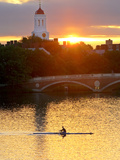 A Man Rowing across the Charles River