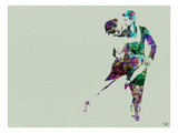 Tango Dancers Watercolor