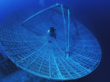 A Radar Dish Atop a Sunken Ship Used to Track Missiles