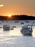 Lobster Boats at Sunrise in Stonington Harbor