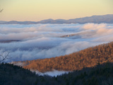 Clouds Fill a Mountain Valley in the Blue Ridge Mountains