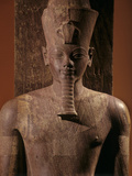 A Quartzite Lifesize Statue Amenhotep III As the God Atum