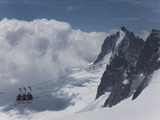 The Cable Car Between Italy and France Through the Mont Blanc Massif  Aiguille Du Midi  Chamonix  H