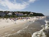 Beach at the Baltic Sea Spa of Bansin  Usedom  Mecklenburg-Western Pomerania  Germany  Europe