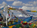 Mount Kailas Framed by Buddhist Prayer Flags