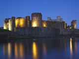 Caerphilly Castle  Mid Glamorgan  Wales  United Kingdom  Europe