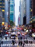 42nd Street in Mid Town Manhattan, New York City, New York, United States of America, North America Papier Photo par Gavin Hellier