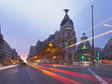 Gran Via and Calle De Alcala  Madrid  Spain  Europe
