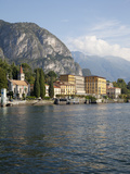 View of the Town of Cadenabbia from Ferry  Lake Como  Lombardy  Italian Lakes  Italy  Europe
