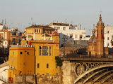Buildings on the Bank of the Guadalquivir River  Seville  Andalucia  Spain  Europe