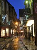 The Shambles at Christmas  York  Yorkshire  England  United Kingdom  Europe