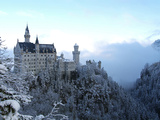 Neuschwanstein Castle in Winter  Schwangau  Allgau  Bavaria  Germany  Europe