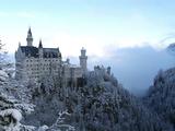 Neuschwanstein Castle in Winter, Schwangau, Allgau, Bavaria, Germany, Europe Papier Photo par Hans Peter Merten