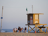 Lifeguard Tower on Newport Beach  Orange County  California  United States of America  North Americ