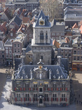 View over the City and the Stadhuis from the Viewing Platform of the Nieuwe Kerk (New Church)  Delf